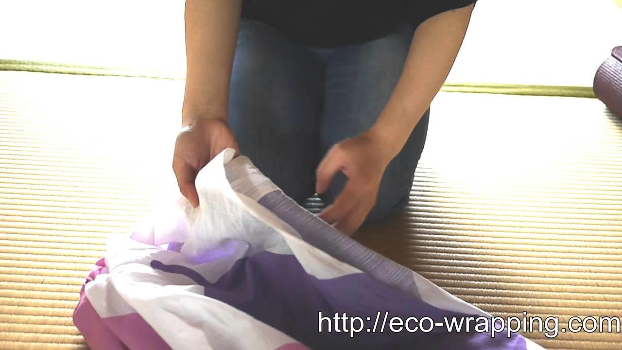 How to make YOGA mat bag with Furoshiki