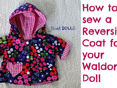How to sew a reversible coat for your Waldorf doll
