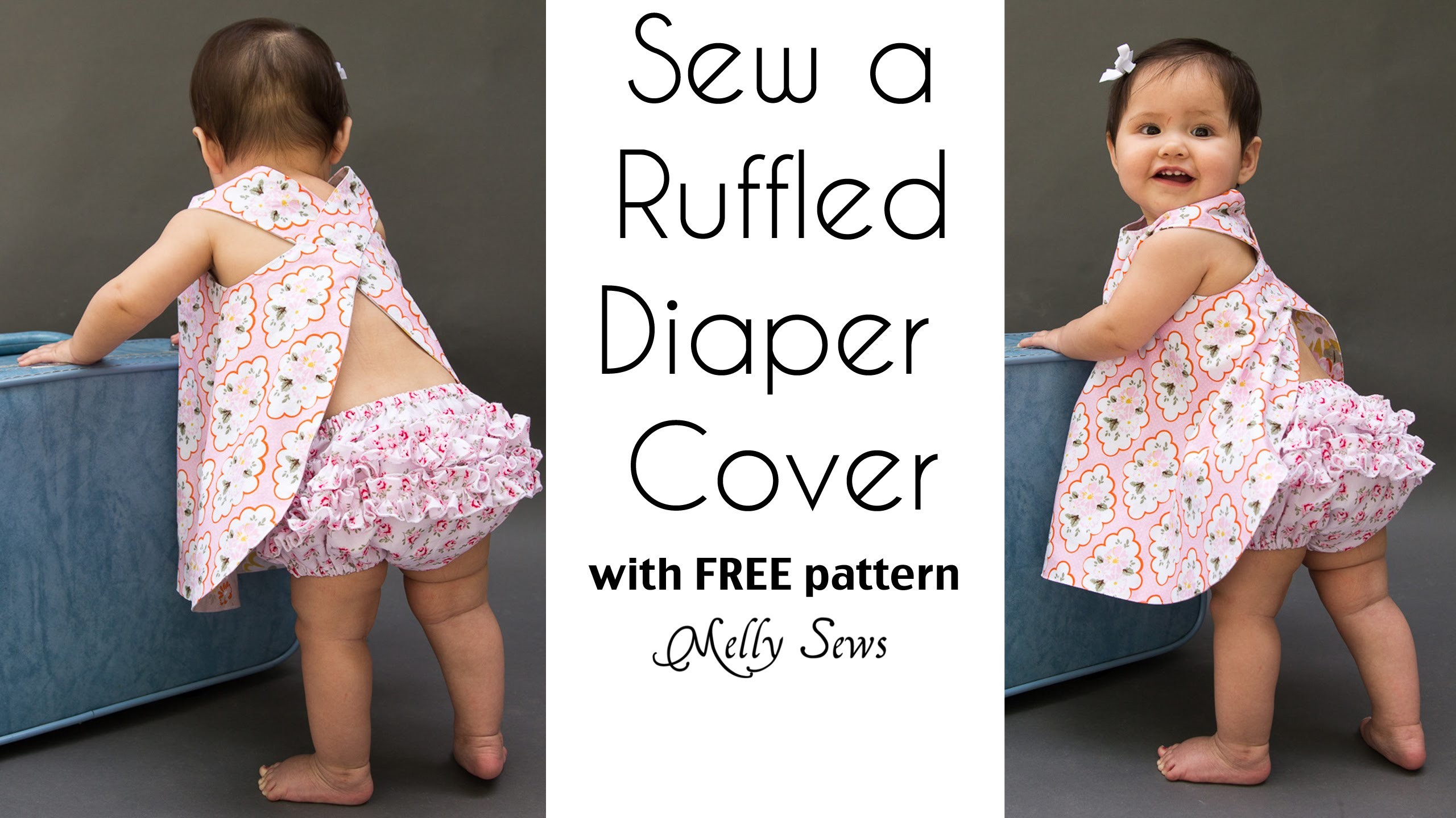 How to Sew a Ruffle Diaper Cover - Ruffled Baby Bloomers