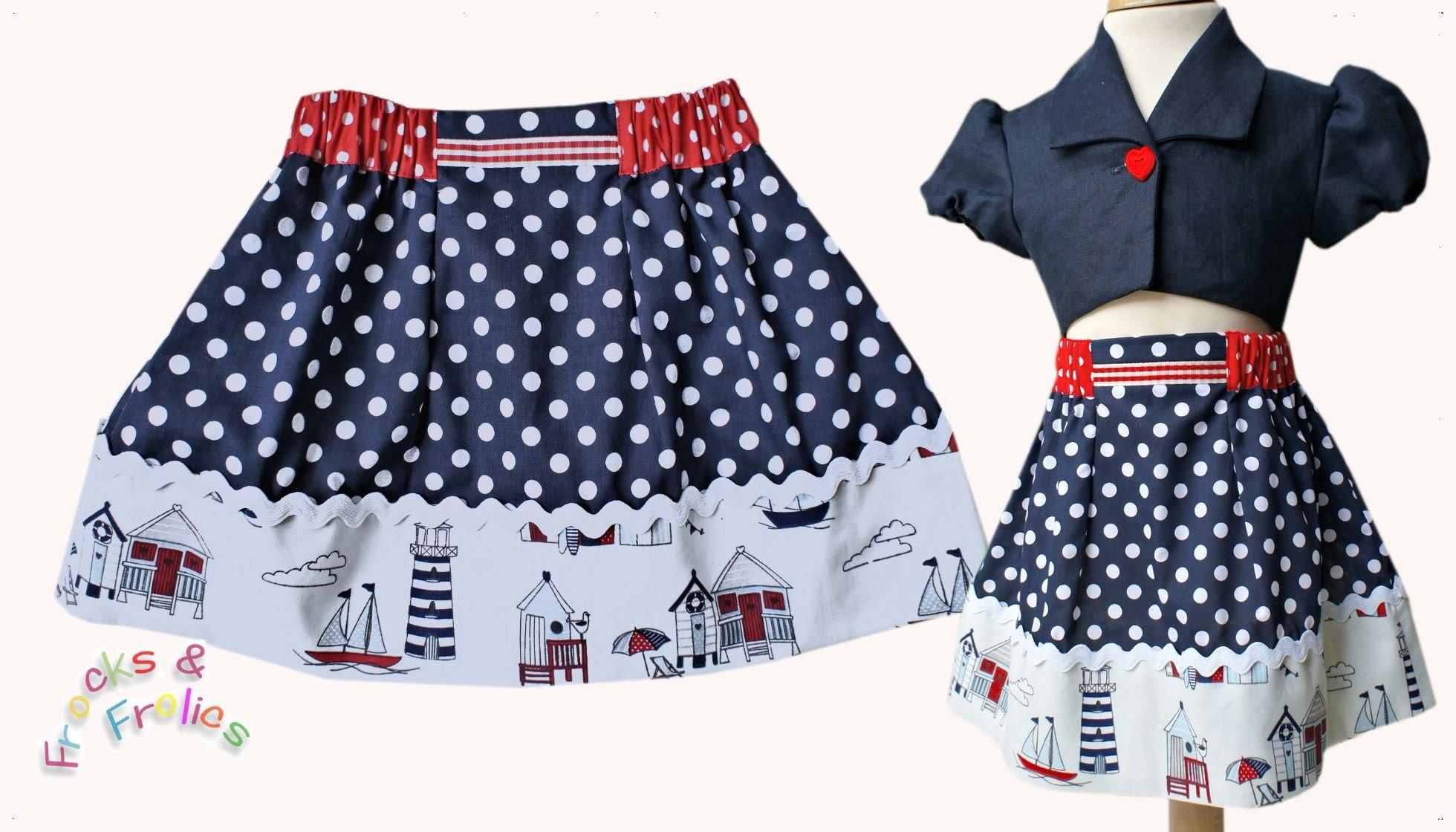 How to sew a skirt  (Easy Summer Skirt Pattern)