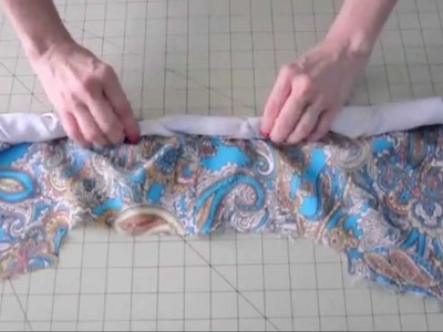 How to Sew - Finish a Lined Sleeveless Dress