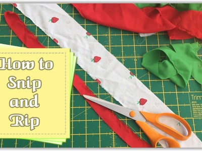 How to Snip and Rip Fabric :: by Babs Rudlin at Fiery Phoenix