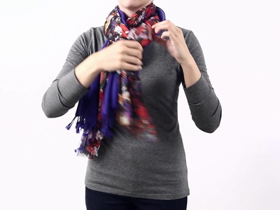 HOW TO TIE A SCARF - THE DOUBLE PRETZEL KNOT