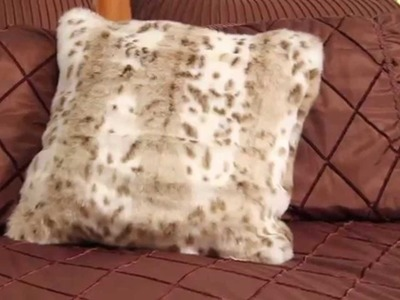 Learn how to make a faux fur pillow cover