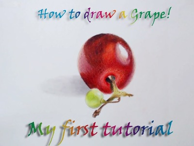My first ever tutorial!! How to draw a grape with prismacolor pencils.