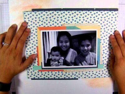 Scrapbook Layout | Easy For Beginners; Layering, Stickers, One Photo
