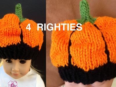Watch How To Knit Pumpkin Hat - AGD.Newborn (4 RIGHTIES)