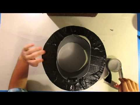 Attach the bill Part 7 of 8: How to make a duct tape top hat