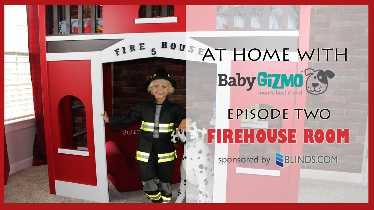 BG Home: DIY Firehouse Room Tour - AT HOME WITH BABY GIZMO (EPISODE #2)