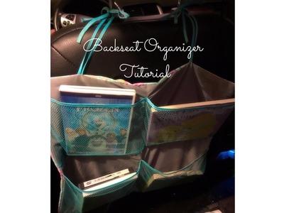 DIY: Backseat Car Organizer Tutorial