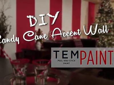 DIY Candy Cane Accent Wall | Holiday How-To by TemPaint