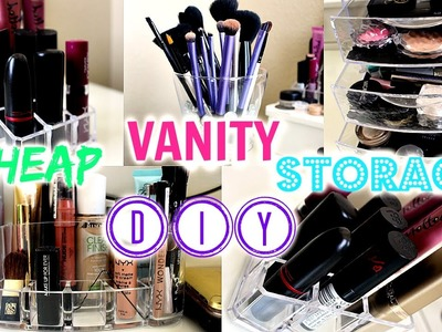 DIY & CHEAP Vanity Storage Ideas