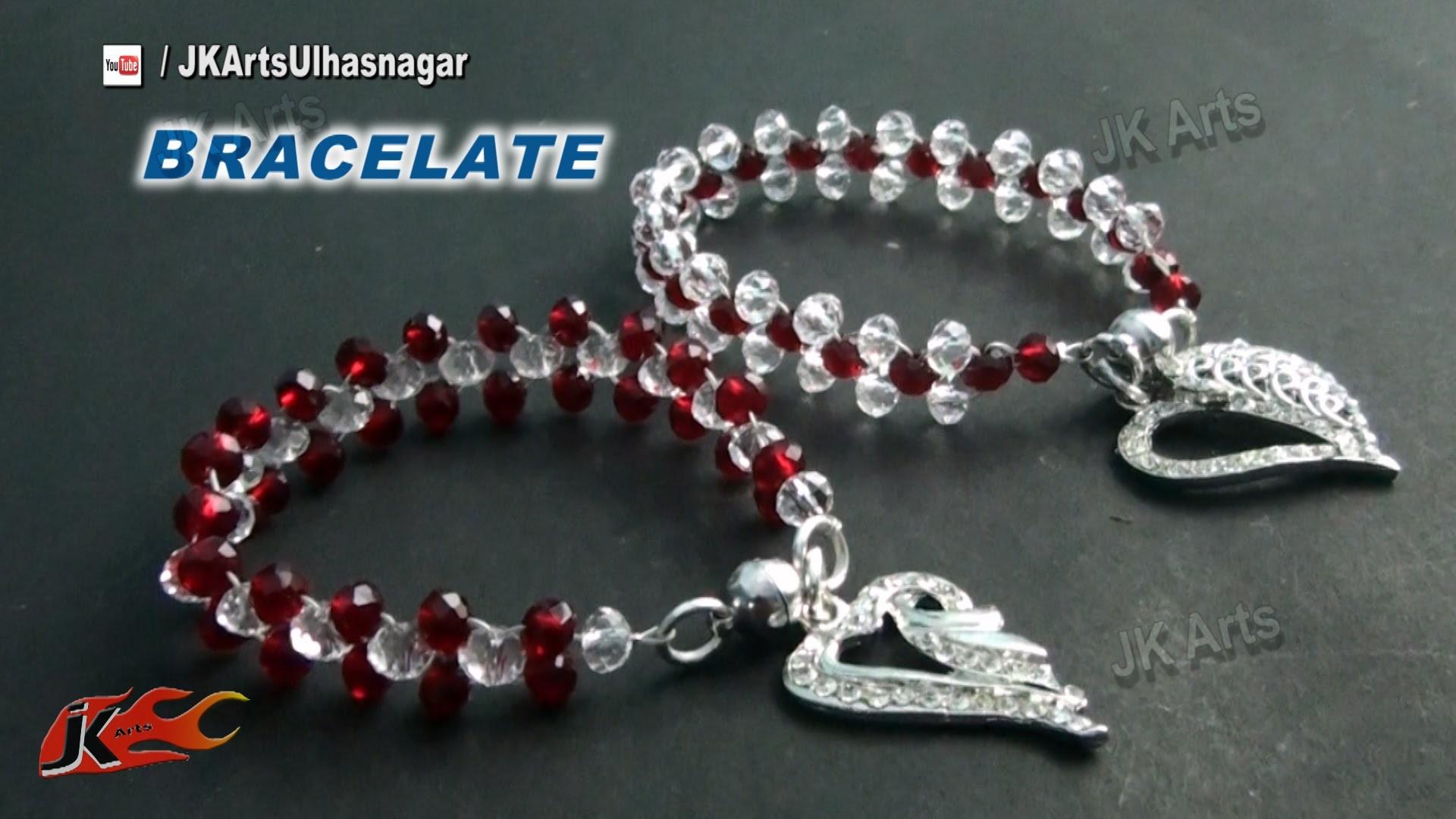 DIY  Crystal Beads Bracelet | Valentine's Day Gift Idea  | How to make | JK Arts 834
