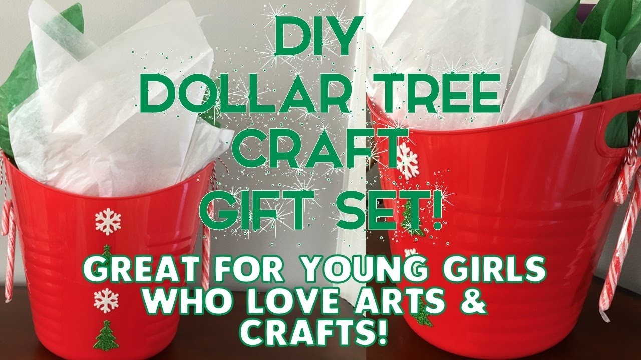 DIY Dollar Tree Craft Gift Set | For Young Girls who Love Arts & Crafts!