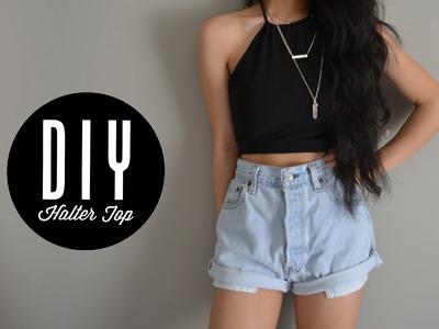 DIY halter top out of leggings | Injoyy