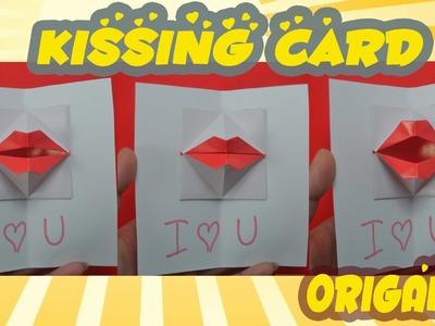 DIY Origami kissing lips & Secret Message - Pop up Kiss ♥