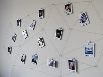 DIY Polaroid Photo Wall Display
