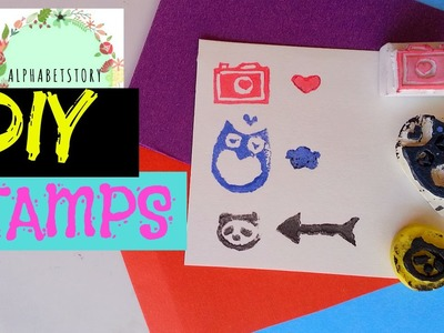 DIY: RUBBER STAMP (without carving tools) EASY and CHEAP | alphabetstory
