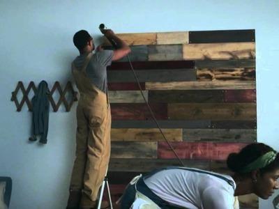 DIY Wood Plank Headboard - Lowe's HyperMade