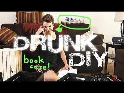 DRUNK DIY: Wood Crate Bookcase