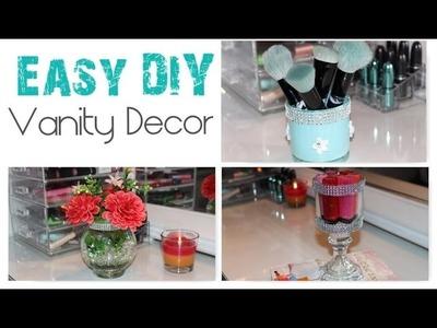 Easy DIY Room + Vanity Decor Brush Holder + Lipstick Holder