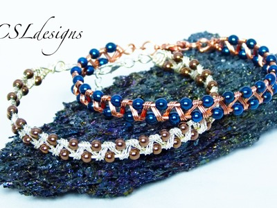 Easy zig zag wirework bracelet