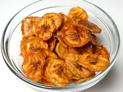 HOMEMADE BANANA CHIPS - How To Make, DIY - Inspire To Cook