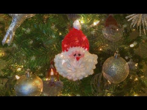 How To Crochet A Santa Ornament, Lilu's Knitting Corner Video # 13