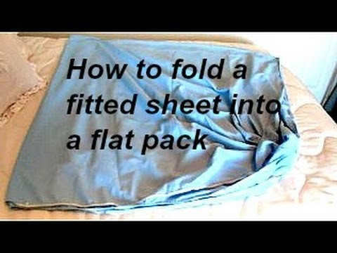 HOW TO FOLD A FITTED SHEET, into a flat pack, quick diy tips