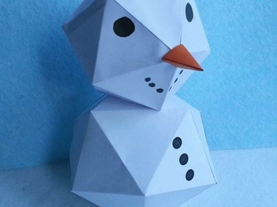 How To Make A Fun Geometric Snowman - DIY Crafts Tutorial - Guidecentral