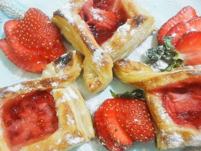 How To Make Easy Diamond Strawberry Puff Pastry - DIY Food & Drinks Tutorial - Guidecentral