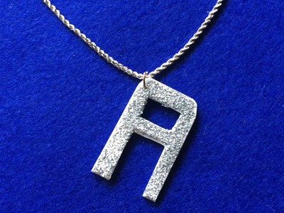How To Make Glittery Alphabet Pendants - DIY Style Tutorial - Guidecentral