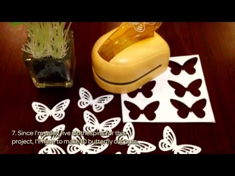 How To Make Washi And Butterfly Clothespins - DIY Crafts Tutorial - Guidecentral