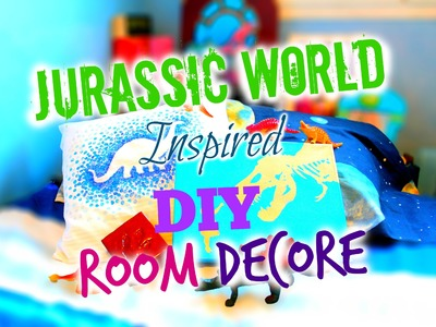 JURASSIC WORLD DIY ROOM DECOR SPECIAL : CANVAS + PILLOW + 3D BOX !!