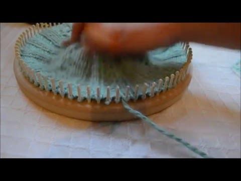 Loom Knit 2 Stitch Right Twist Cable Cross