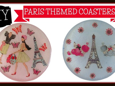 Paris Themed Coaster DIY ~ Craft Klatch Another Coaster Friday