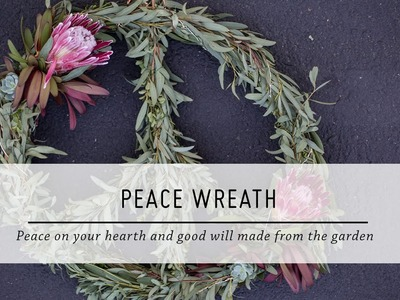 Peace Wreath | DIY Holiday Decor | Stop Motion Tutorial | Mr Kate