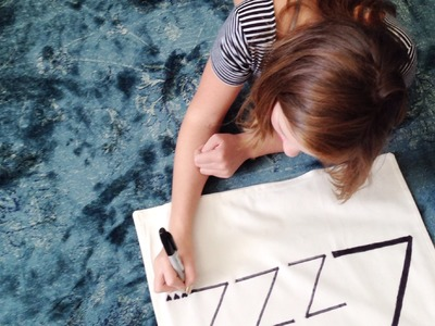Room Decor with MB | DIY Zzzz.  Throw Pillow
