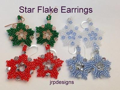 Star Flake Earrings-Beginners Level