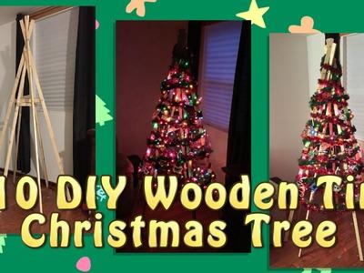 $10 DIY Wooden Tipi Christmas Tree