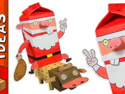 Cardboard Santa and Rudolph | Christmas DIY Crafts Ideas For Kids