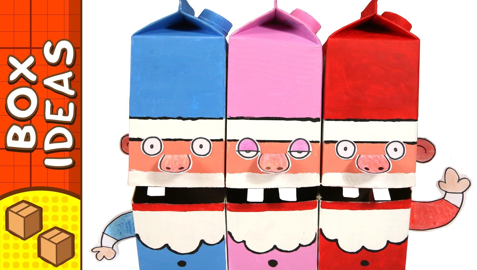 Cardboard Singing Santa's | Christmas DIY Crafts Ideas For Kids
