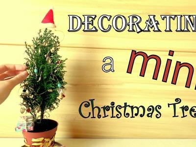 Decorating a MINI Christmas Tree | Cute DIY Tiny Ornaments | by FluffyHedgehog