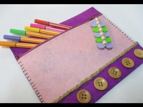 DIY : #79 Pencil Case WITH cute zipper Decoration ♥
