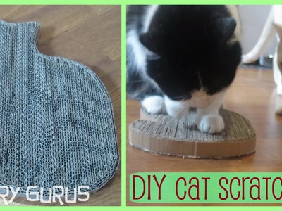 DIY Cardboard Cat-Shaped Cat Scratcher | Furry Gurus