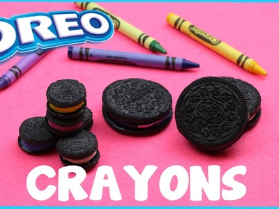 DIY Crafts: How To Make Oreo Cookie Crayons - 3 DIY Ways - Miniature, Galaxy, Original