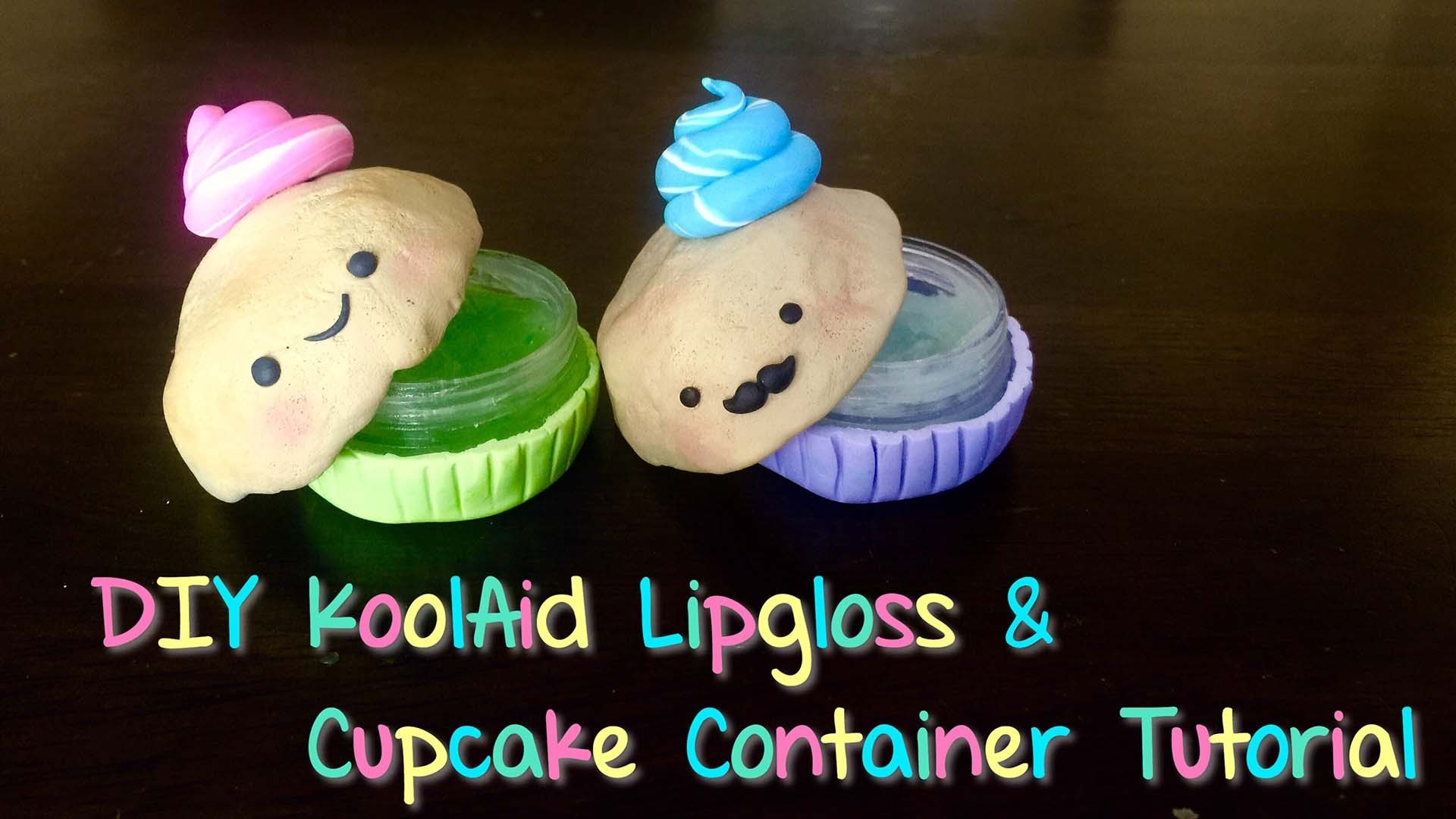 DIY Cupcake Polymer Container & Homemade Lip Balm Tutorial