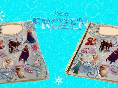 DIY Disney Frozen Notebook