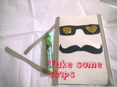 DIY. Easy Father's Day Greeting Card Making Idea. Happy Father's Day Card