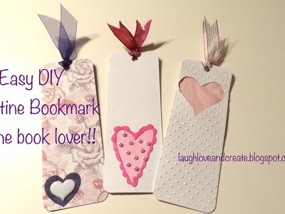 DIY | Easy Valentine Heart Bookmark :: Gifts for the bookworm in your life!